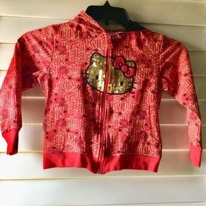 Other - Red & Gold hello kitty jacket